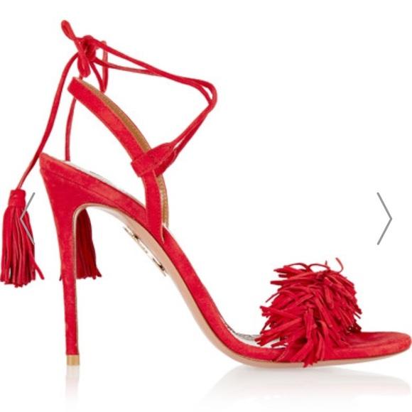0f677153706 Boohoo Shoes - Wild thing red fringe stiletto size 7 (UK 5)
