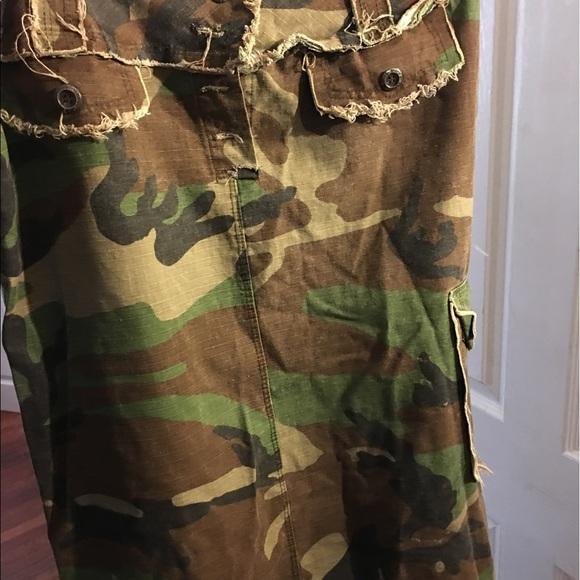 Army fatigue skirt