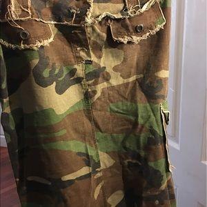 Dresses & Skirts - Army fatigue skirt