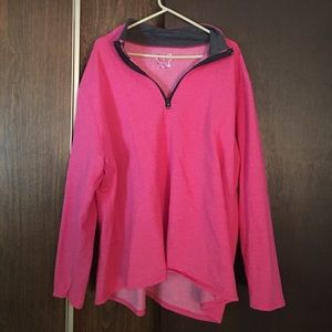 Just My Size Tops - Pink sport pullover
