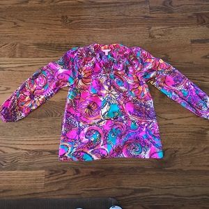 Lilly Pulitzer 100% silk blouse!