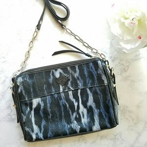 Simply Vera Wang Navy Leopard Crossbody Purse