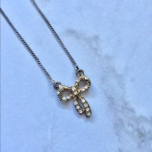 Jewelry - Rhinestone Bow Necklace