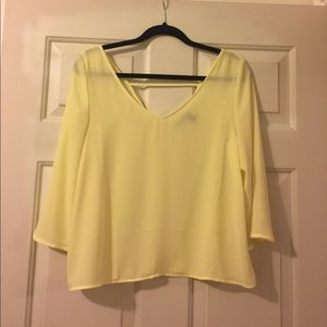 Valette Tops - Yellow Top NWOT