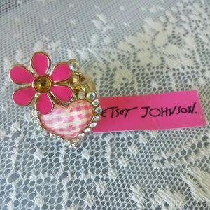 Betsey Johnson Floral Stretch Ring