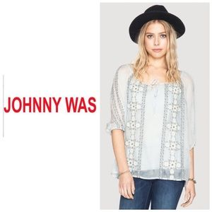 Johnny Was Tops - Johnny Was 4 Love and Liberty Quin embroidered top