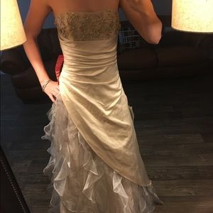 Morgan & Co. Dresses & Skirts - ‼️NEW LISTING‼️NWT Beige Formal Floor Length Dress