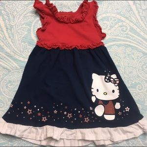 Hello Kitty Other - Hello Kitty Fourth of July! Red, white, blue dress