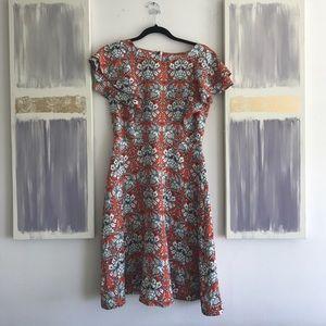 Shabby Apple ruffle patterned dress