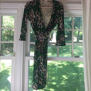 DVF vintage wrap dress size 10