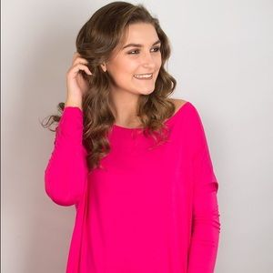 Piko 1988 Tops - Fuchsia Piko Long Sleeve Top