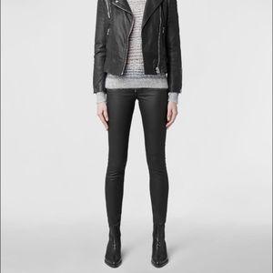 All Saints High Rise Stilt Coated Skinny Jeans