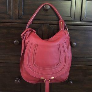 Chloe Handbags - Authentic Chloe red Marcie hobo w duster
