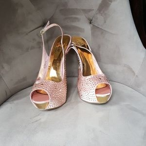 ShoeDazzle Shoes - Silky embellished high heels