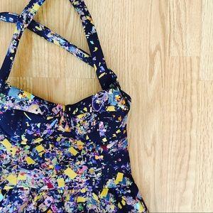 Cynthia Rowley Bonded Confetti Dress