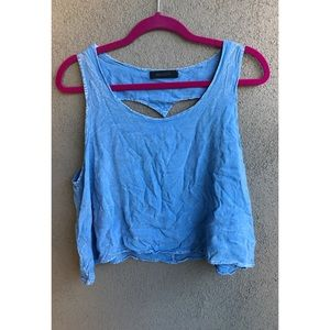 Mono B Tops - Blue Tank Top