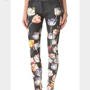 MOTHER Pants - Mother The Looker Floral Tulip Printed Jeans
