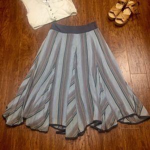 Grace Elements Dresses & Skirts - Denim blue striped really boho hippy maxi skirt 6