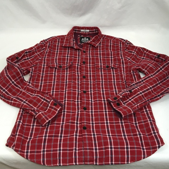 34 off express other express flannel double layered for Women s slim fit flannel shirt
