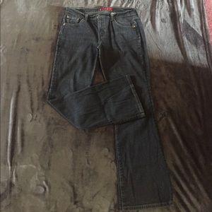 Levi's Black 515 Boot Cut, Low Rise Stretch Jeans