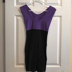 American apparel two tone dress