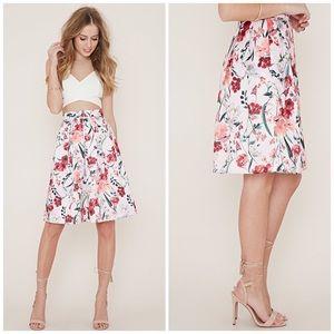 Forever 21 Dresses & Skirts - Forever 21 Pink Floral Pleated Skirt