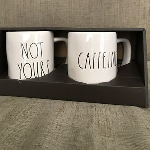 rae dunn Other - Rae Dunn by Magenta NOT YOURS & CAFFEINE Mugs 2 pc