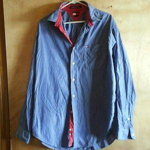 #FreeTommy  Hilfiger  dress  shirt  size  large