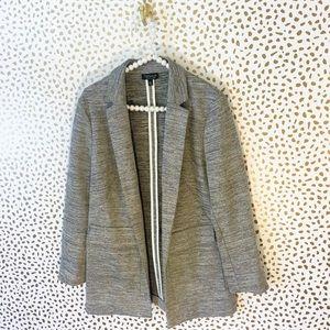 Topshop Jackets & Blazers - Topshop Grey Textured Pocket Boyfriend Blazer