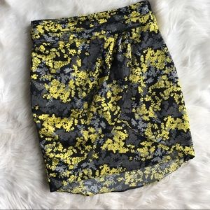 H&M Floral Tulip Career Skirt