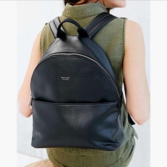 Matt & Nat - Black Vegan Leather Backpack from ! cathy's closet on ...