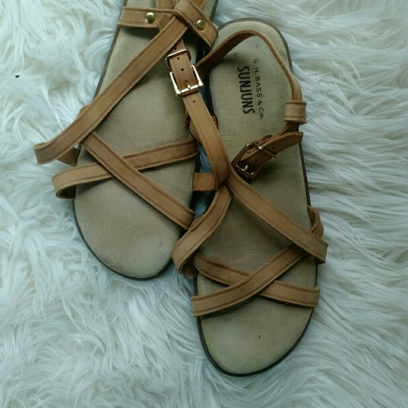 050b0557b Bass Shoes - Bass Leather Strappy Sanjuns sandals