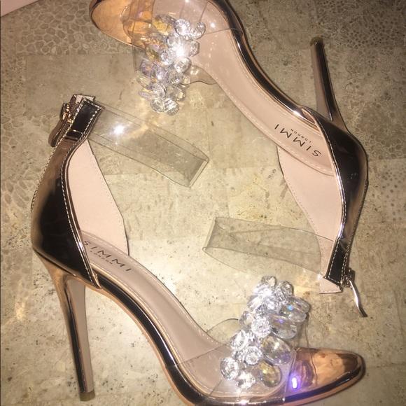 a096ef7a05d Simmi Brielle Rose Gold Crystal Rhinestone Heels