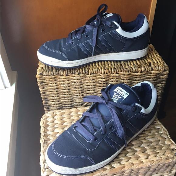 Adidas Top Ten Navy Blue Low Tops Size
