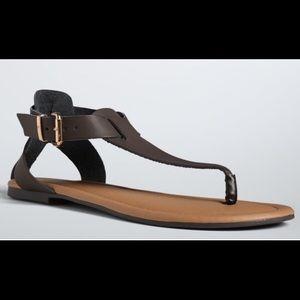 torrid Shoes - New Torrid Brown Faux Leather T-Strap Sandals