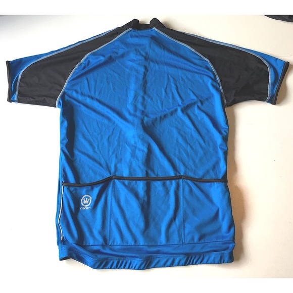Canari Jackets & Coats - Canari Cycling Jacket Shirt Blue Black Zip up Lg