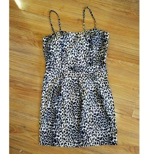 Dresses & Skirts - 90s VINTAGE leopard print empire waist dress