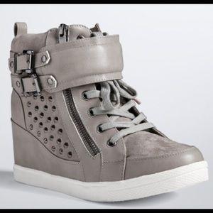 torrid Shoes - New Torrid Gray Stud Wedge Sneakers
