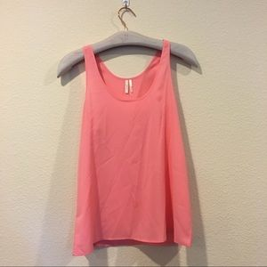 Frenchi Tops - Frenchi pink coral scoop neck tank