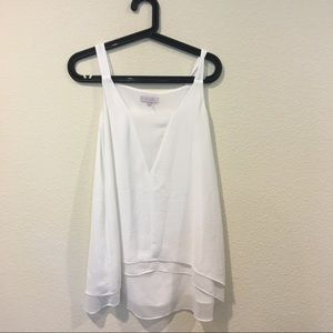 1. State white v neck tank blouse