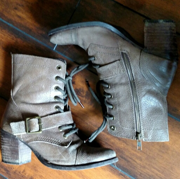 045e367127e Steve Madden Devlin Lace up Ankle Boots Brown 7.5