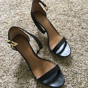 Banana Republic Shoes - Black leather heel with strappy ankle!