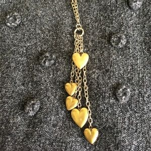 Jewelry - Gold tone Heart Locket Tassel Pendant Necklace