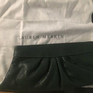 Lauren Merkin Handbags - Lauren Merkin green leather clutch