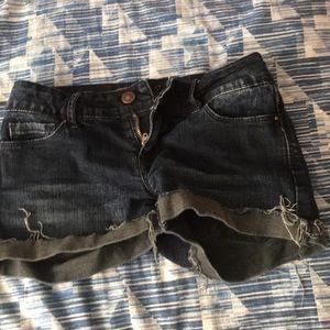 Pants - Dark Wash Shorts