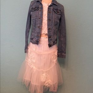 Tulle and sequined skirt