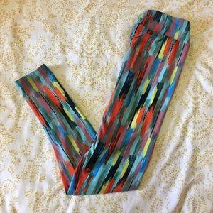 LuLaRoe Pants - LuLaRoe OS Leggings: Brush Stroke Pattern