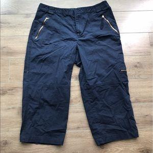 Lauren Ralph Lauren cropped pants wide leg cotton