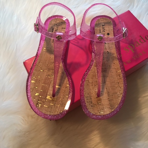 1b54b1587364 Kate Spade • Lipstick Pink Yari Jelly Sandals 6