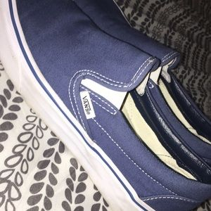 Vans Shoes - Blue slip-on vans